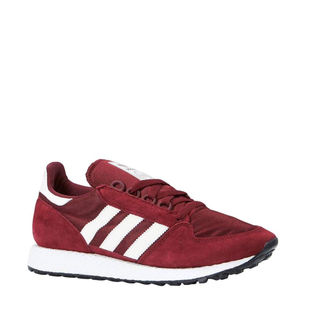 adidas originals  Forest Grove suède sneakers, Rood/wit
