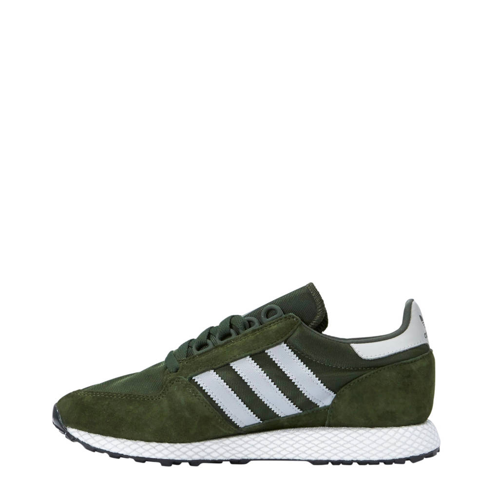 Sneakers Originals Suède Donkergroen Adidas Grove Forest wit PZwqd6O