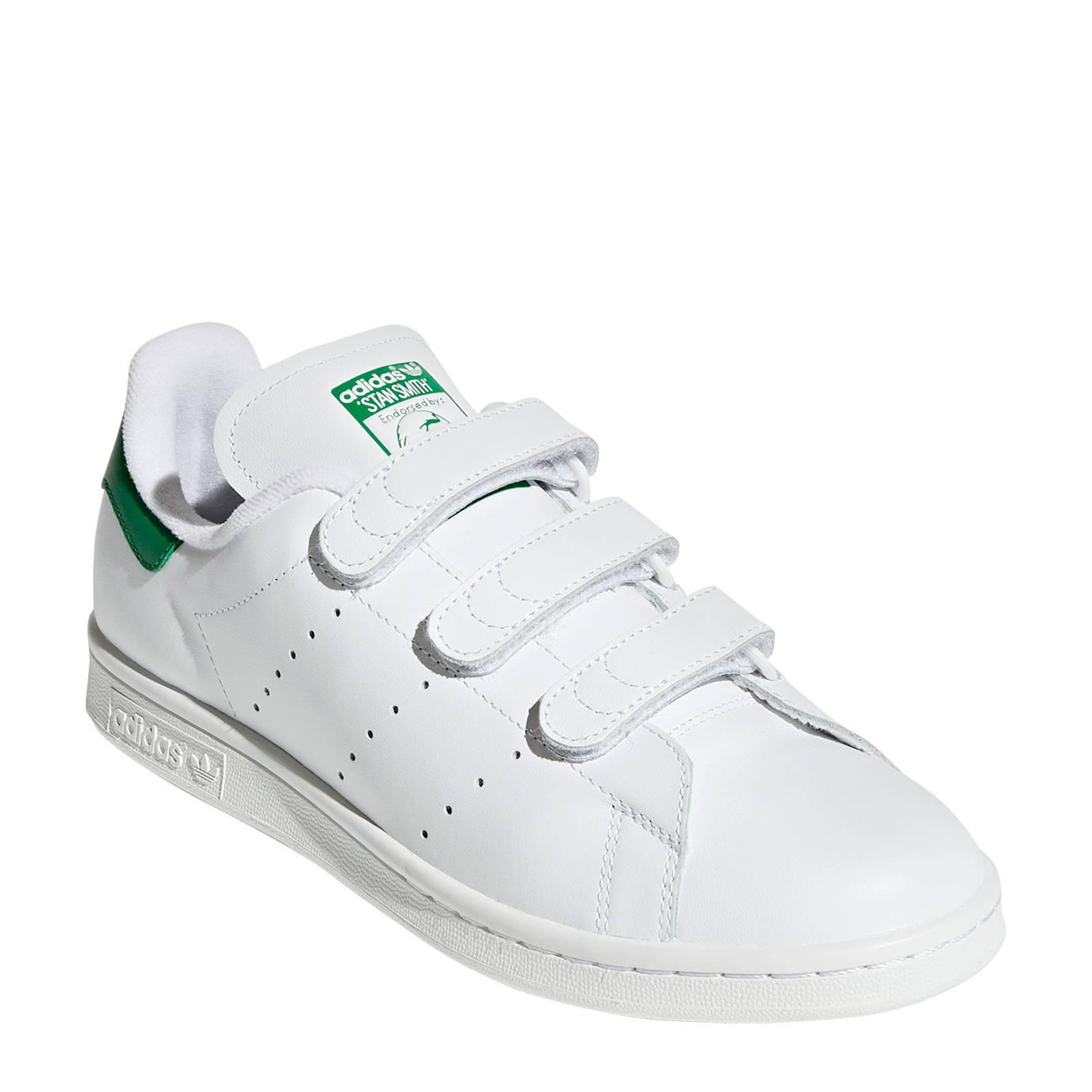 86d37509c78 adidas originals Stan Smith CF sneakers wit/groen | wehkamp