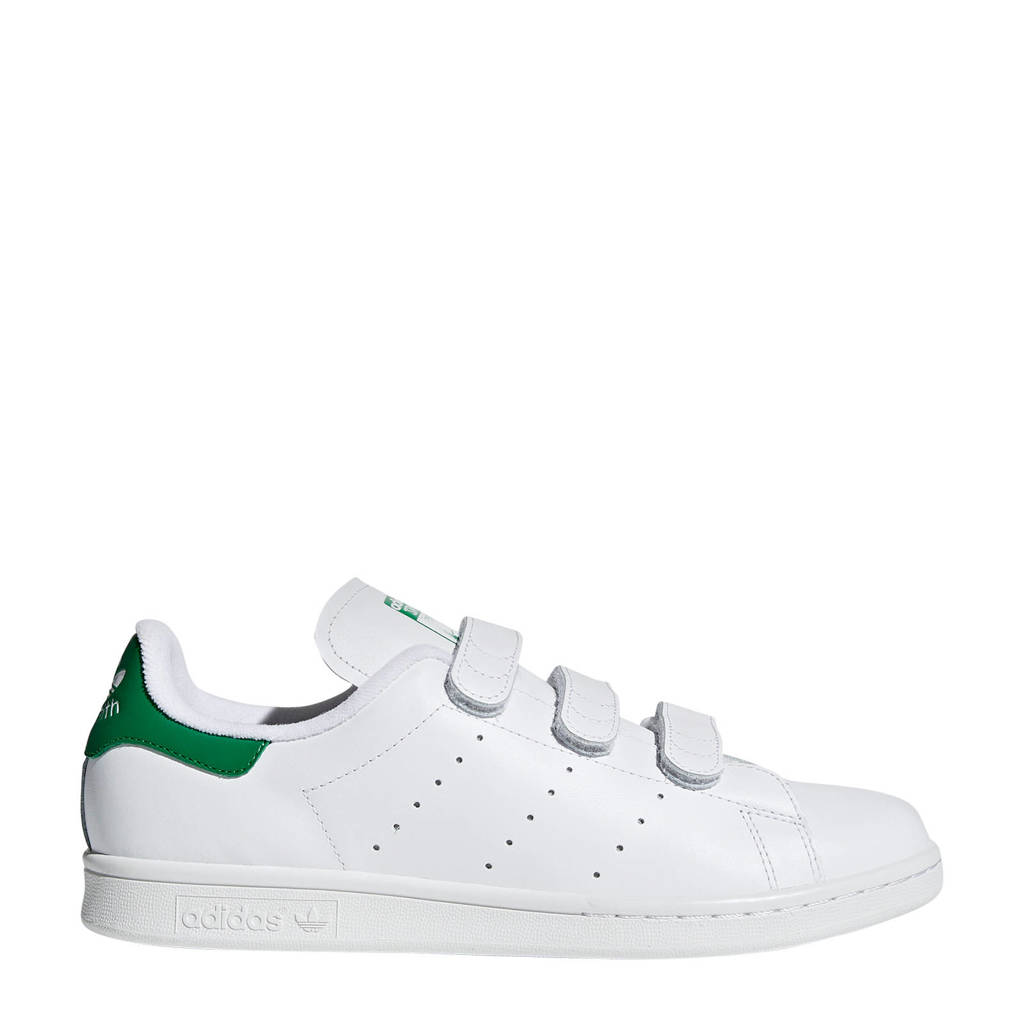 adidas Originals Stan Smith CF leren sneakers wit/groen, Wit/groen