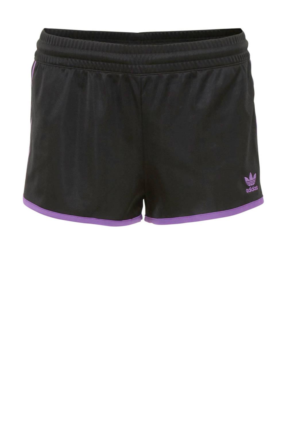 adidas originals sportshort zwart/paars, Zwart/paars