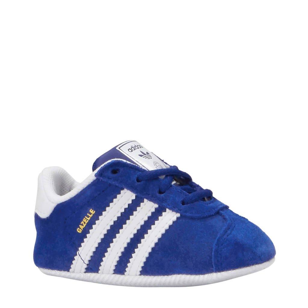 adidas originals Gazelle CRIB Crib sneakers blauw, Blauw/wit