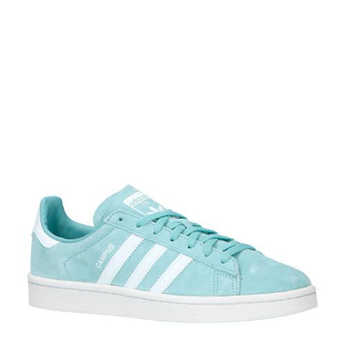 adidas originals Campus nubuck sneakers grijsblauw-wit