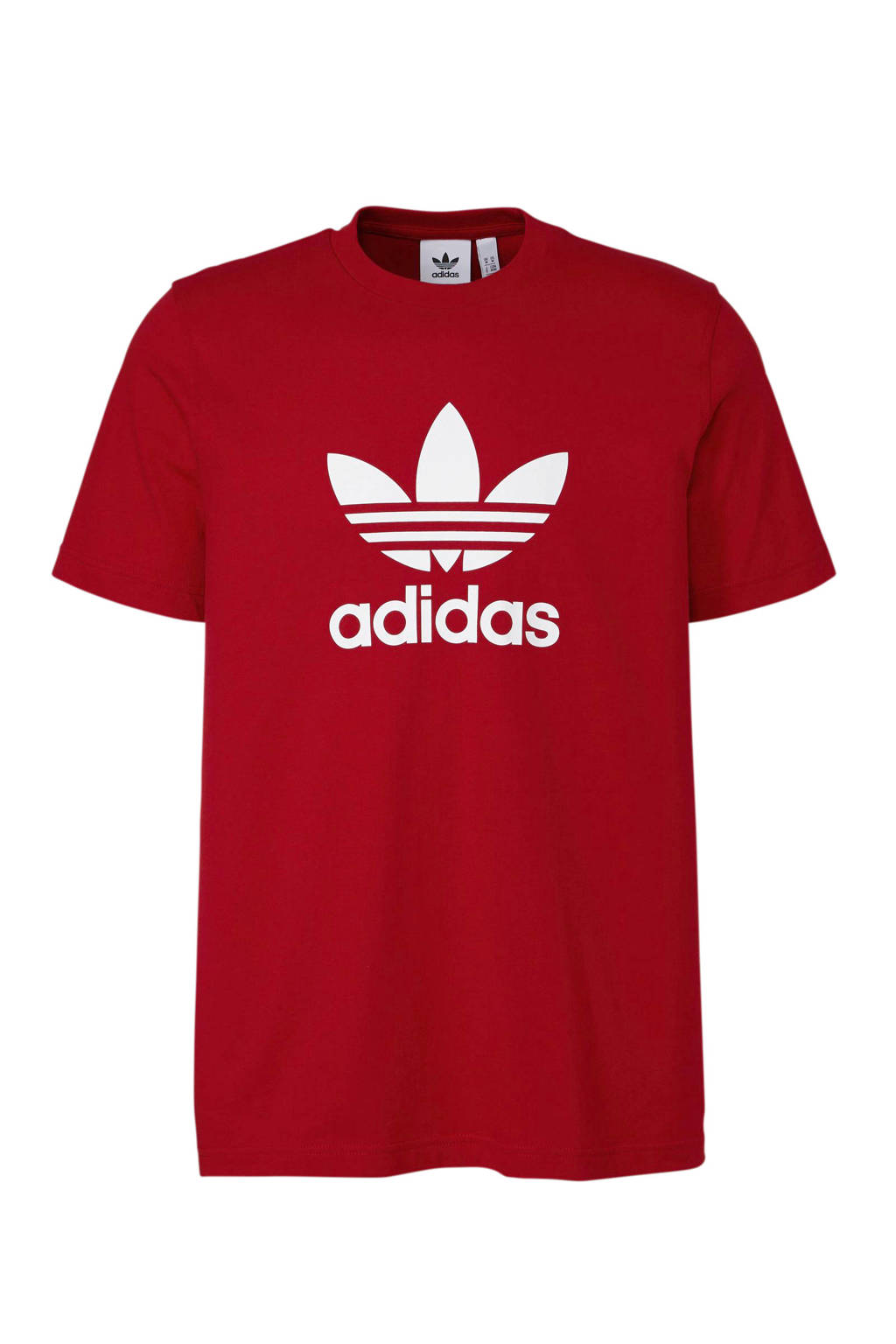 adidas originals   T-shirt rood, Rood/wit