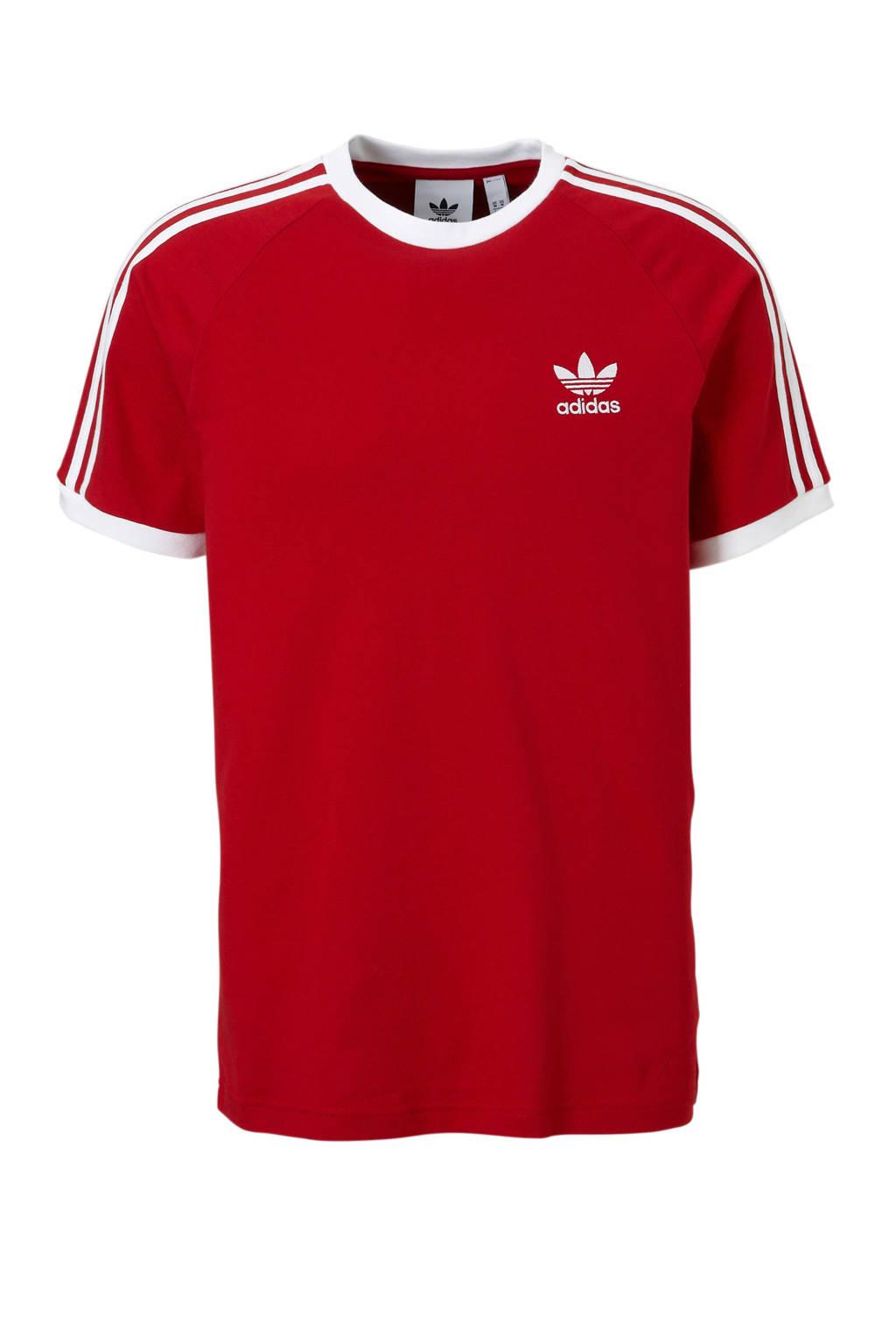 adidas originals   T-shirt rood, Rood/wit