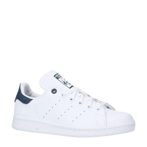 adidas originals Stan Smith J sneakers wit-blauw