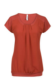 Miss Etam Regulier top met plooi detail rood (dames)