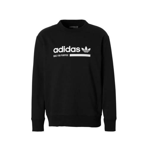 adidas originals sportsweater met printopdruk zwart