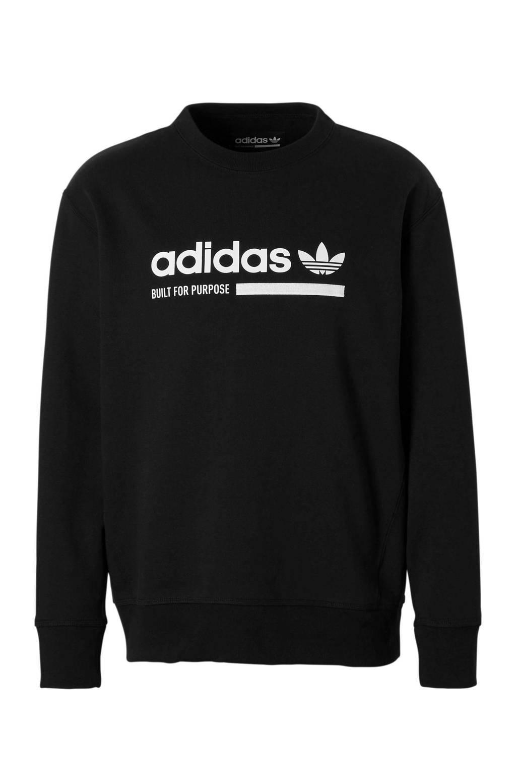 adidas originals   sportsweater met printopdruk zwart, Zwart
