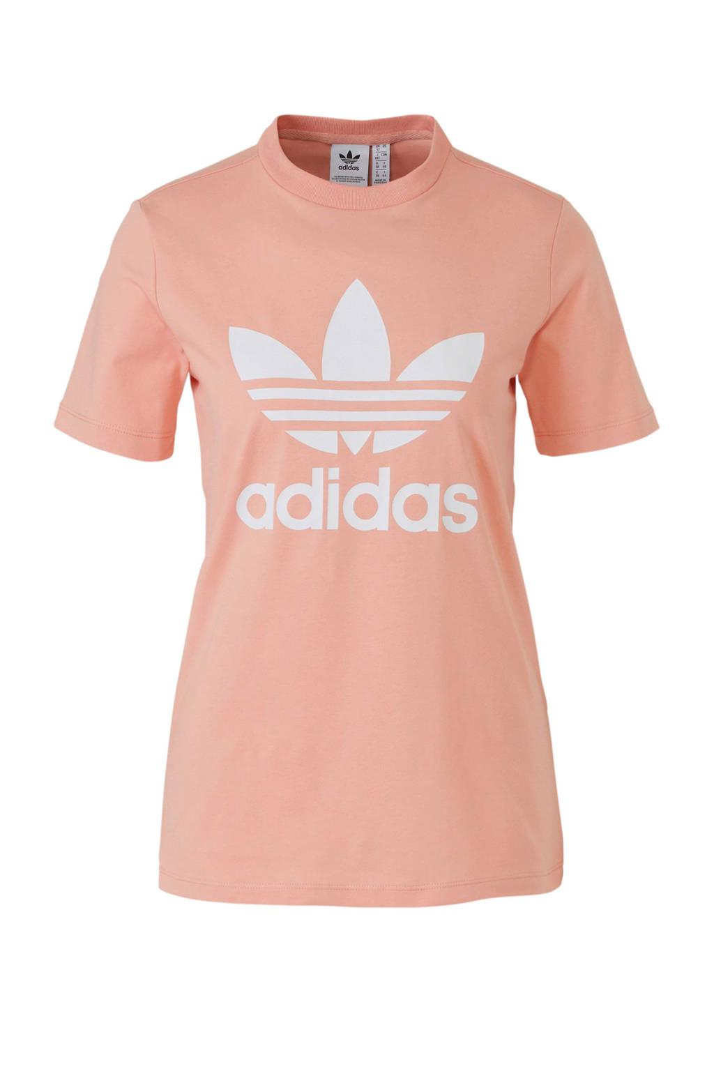 adidas originals T-shirt zalmroze, zalmroze/wit, Dames