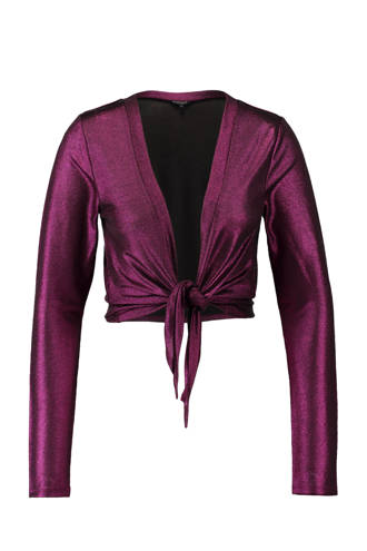 metallic vest roze