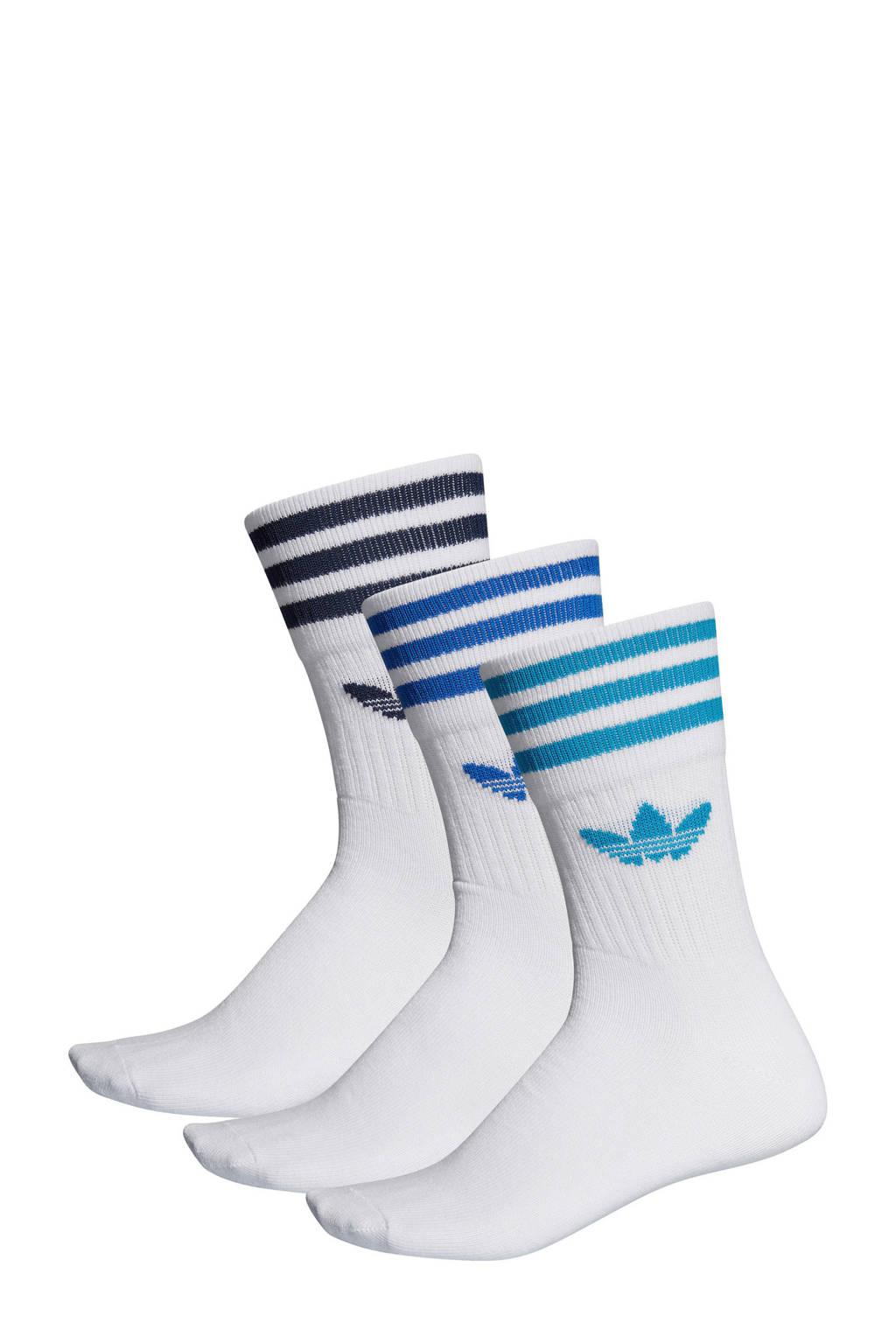 adidas originals   sokken (set van 3 paar), Wit/turquoise/blauw/donkerblauw