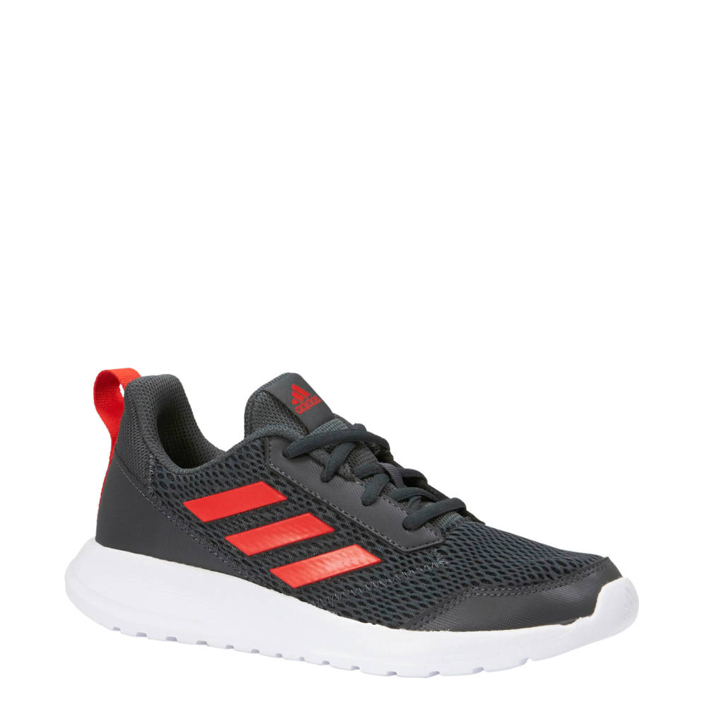 adidas performance  AltaRun K sportschoenen, Donkerblauw/rood/wit, Veter