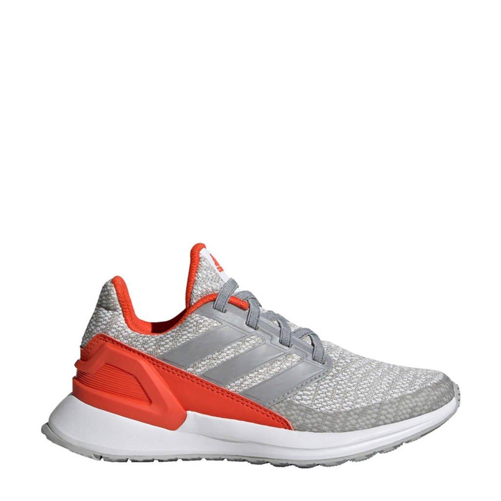 adidas performance kids RapidaRun K hardloopschoenen grijs/rood, Grijs/rood