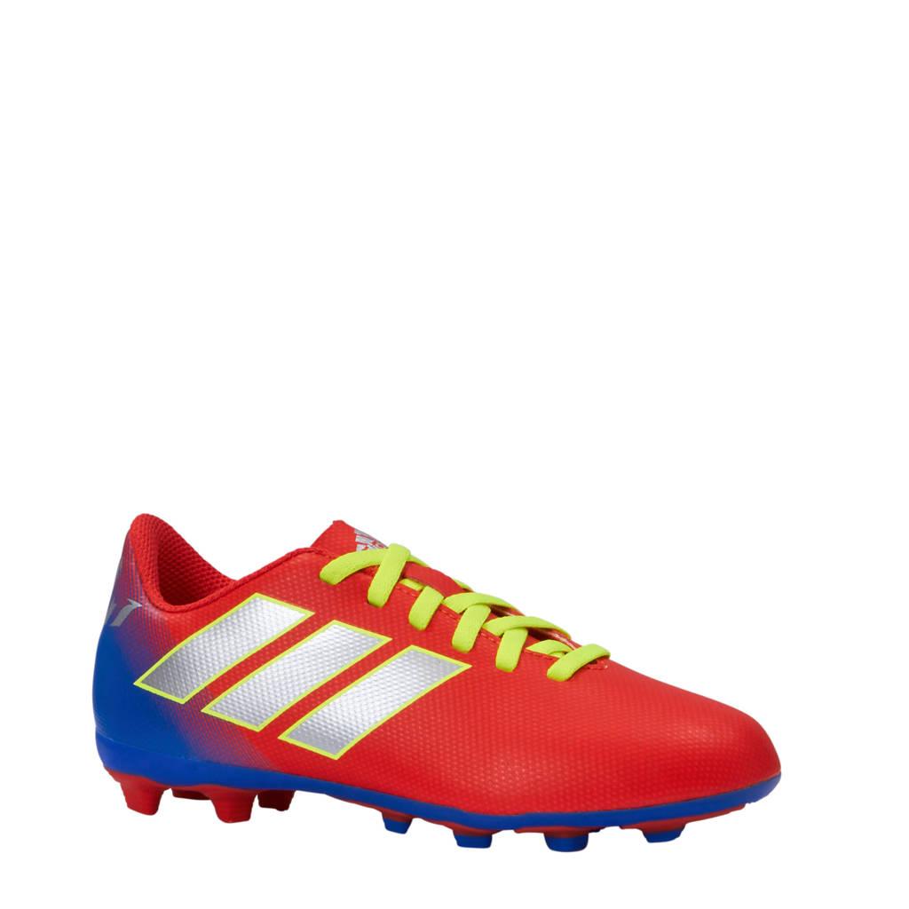 adidas performance Nemeziz Messi 18.4 FxG J voetbalschoenen rood/geel/blauw, Rood/geel/blauw