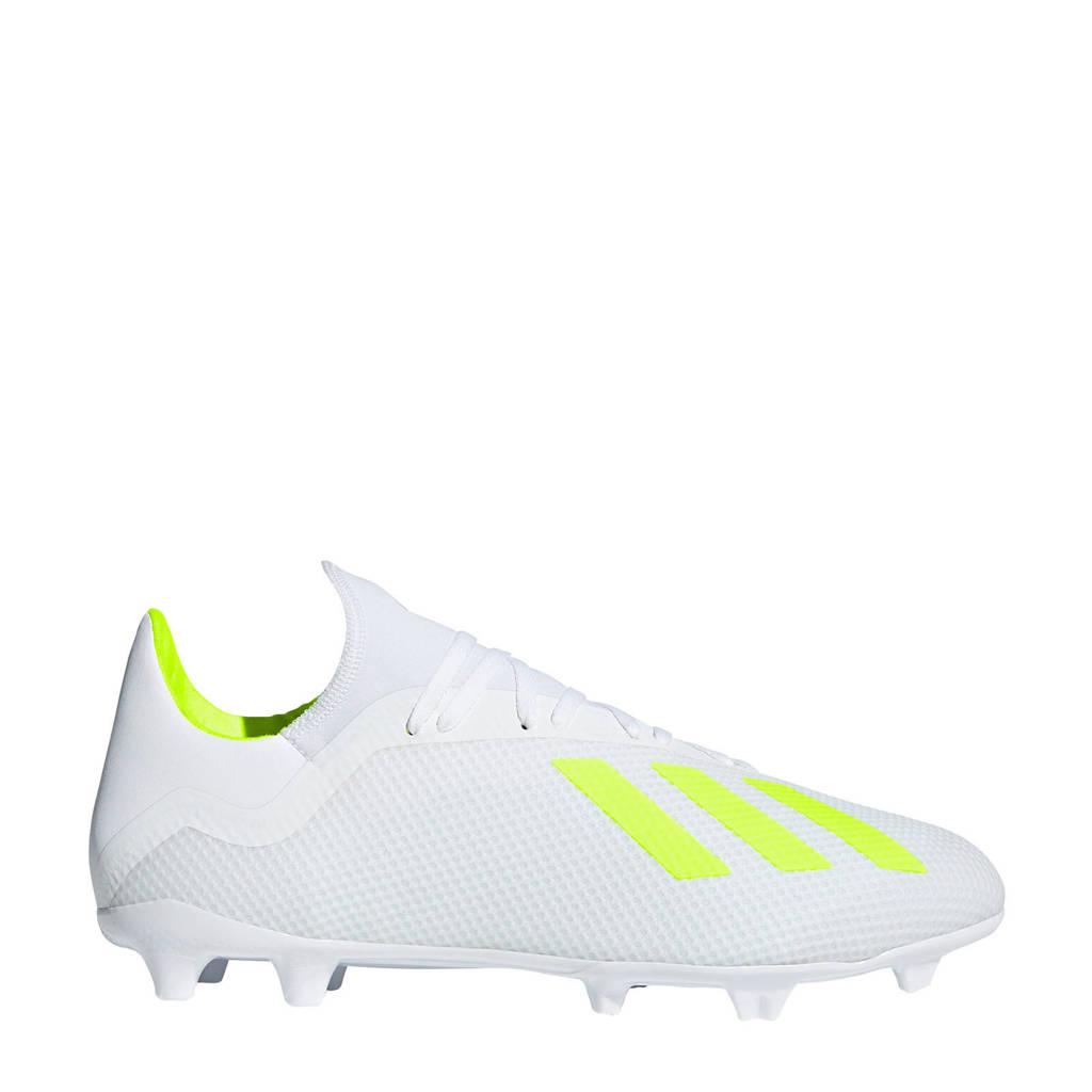 d6e2e6e17b0 adidas performance X 18.3 FG voetbalschoenen, Wit/geel