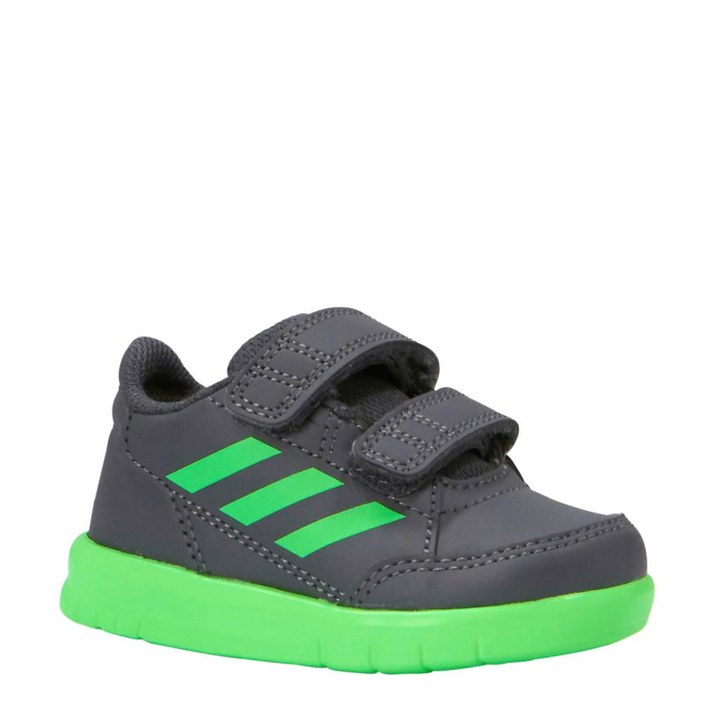 adidas performance kids AltaSport CF I sportschoenen zwart/groen, Zwart/groen