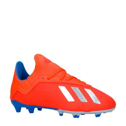 adidas performance X 18.3 FG J voetbalschoenen rood-blauw