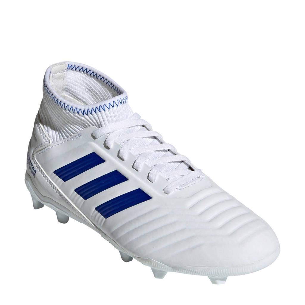 adidas performance Predator 19.3 FG J voetbalschoenen wit, Wit/blauw