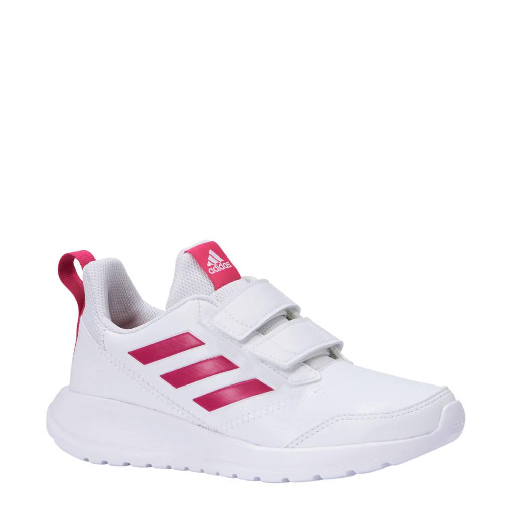 5ec38c2f38ff00 adidas performance AltaRun CF K sportschoenen wit/roze, Wit/roze,  Klittenband