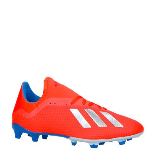 adidas performance X 18.3 FG voetbalschoenen rood/zilver kopen