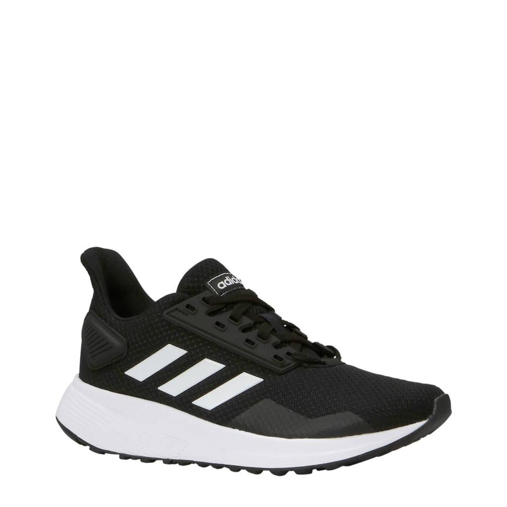 adidas Performance   Duramo 9 K hardloopschoenen zwart/wit kids, Zwart/wit