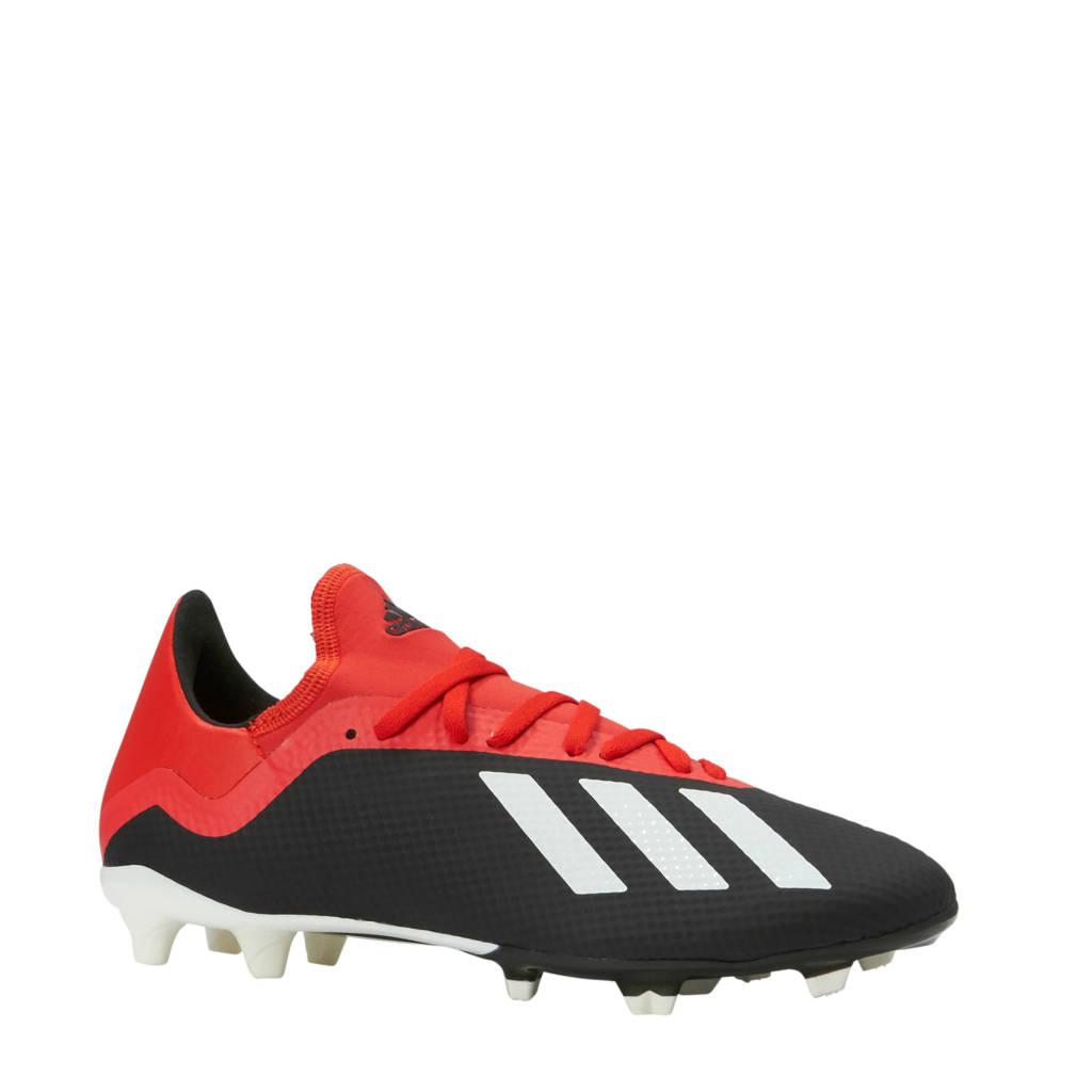adidas performance X 18.3 FG voetbalschoenen rood, Rood/zwart