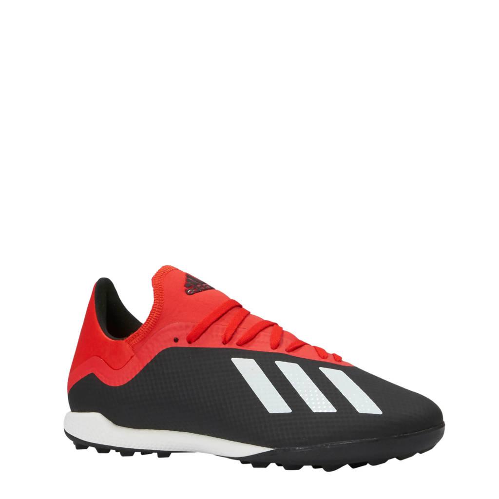 adidas performance   X 18.3 TF voetbalschoenen zwart/rood, Zwart/rood