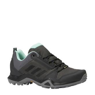performance  Terrex AX3 GTX outdoor schoenen grijs/mintgroen