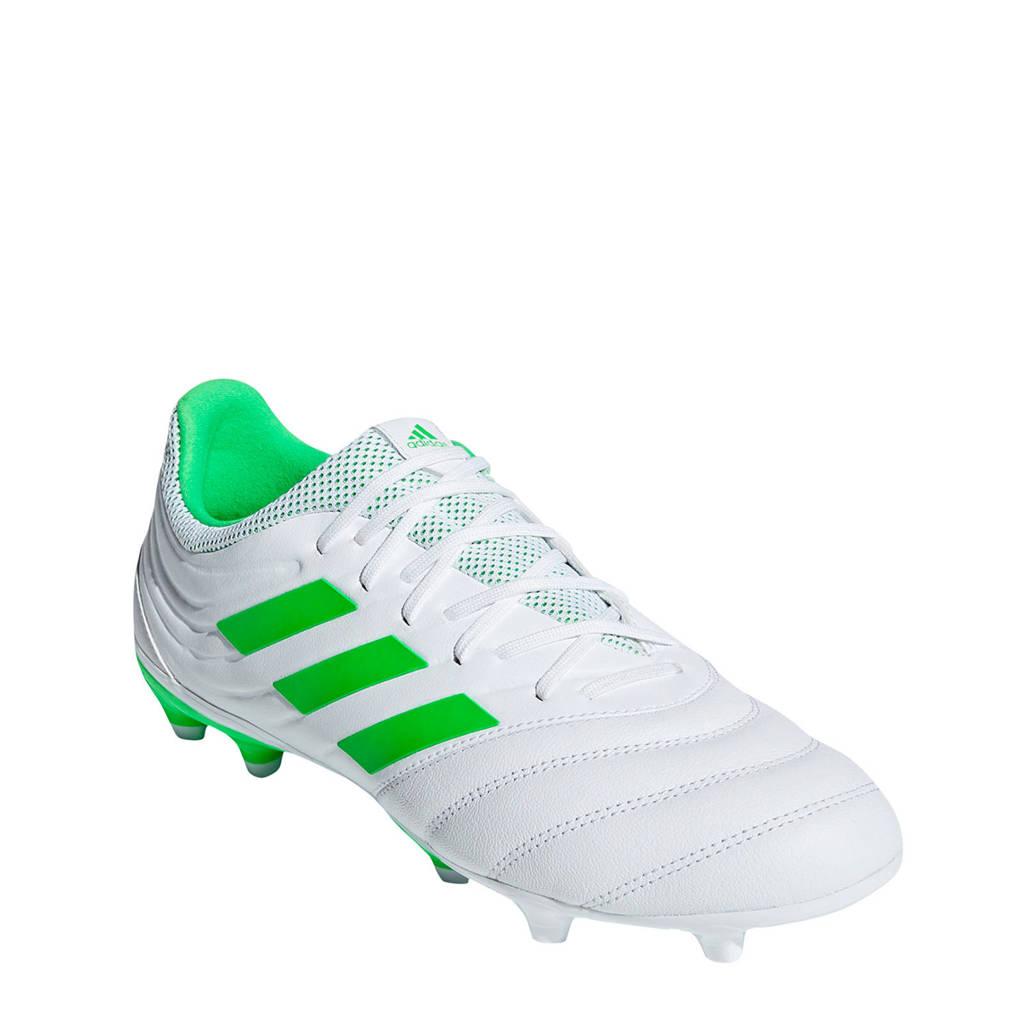 adidas performance COPA 19.3 FG voetbalschoenen, Wit/groen