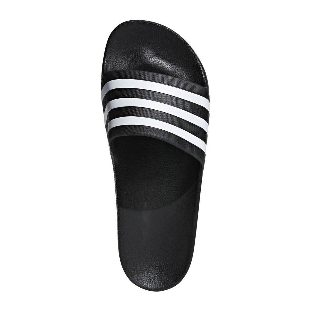 adidas Performance   Adilette Aqua badslippers zwart, Zwart/wit, Unisex