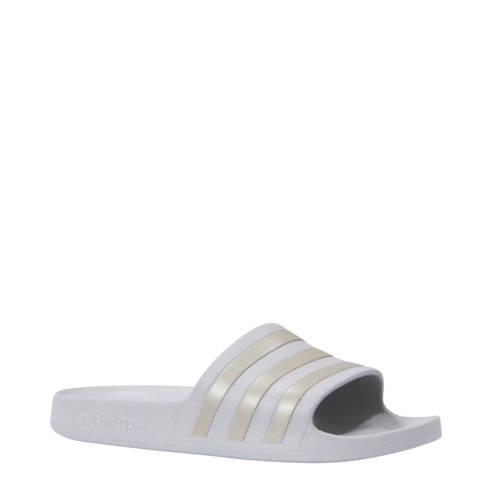 adidas performance Adilette Aqua badslippers grijs-platina