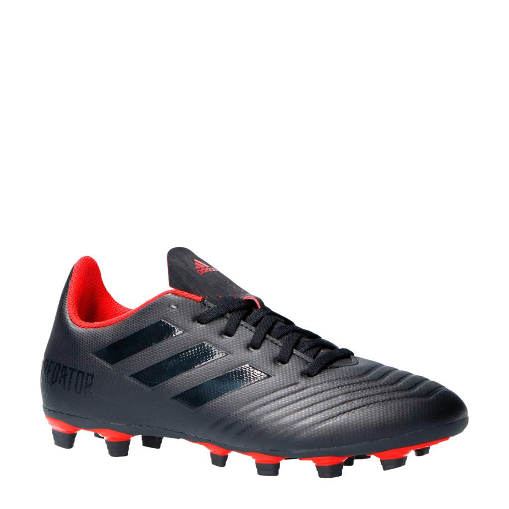 adidas performance Predator 19.4 FxG J voetbalschoenen zwart/rood, Zwart/rood