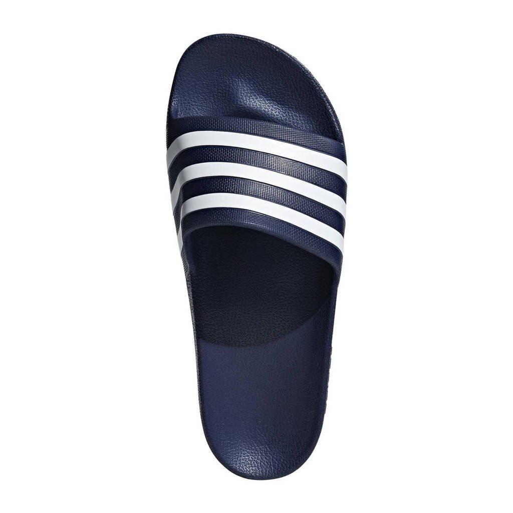 adidas Performance Adilette Aqua badslippers donkerblauw, Donkerblauw/wit