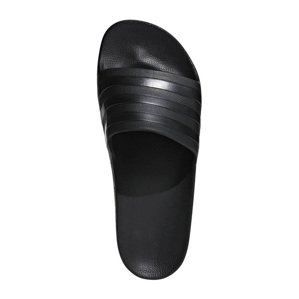adidas Performance Adilette Aqua badslippers zwart, Zwart