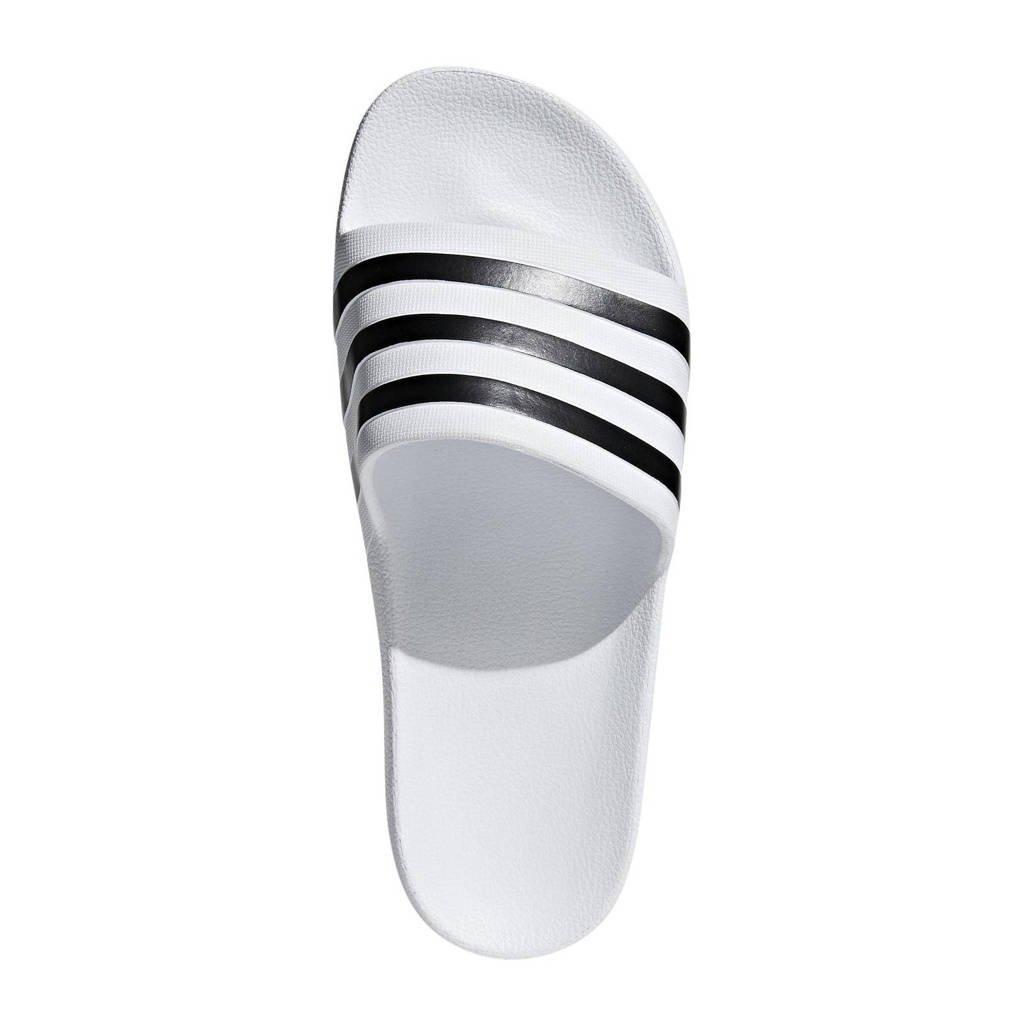 adidas Performance   Adilette Aqua badslippers zwart, Wit/zwart, Unisex