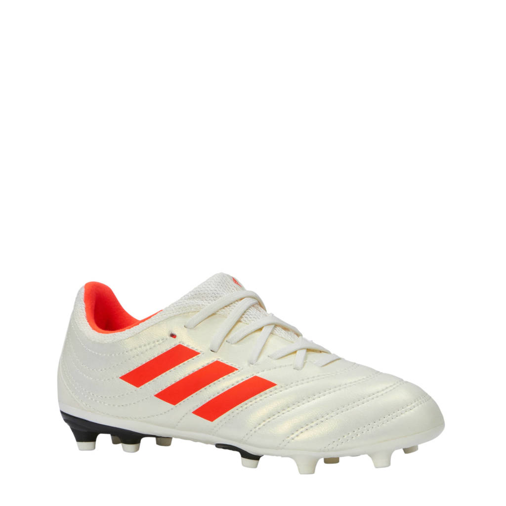 adidas performance COPA 19.3 FG jr voetbalschoenen wit/rood, Wit/rood