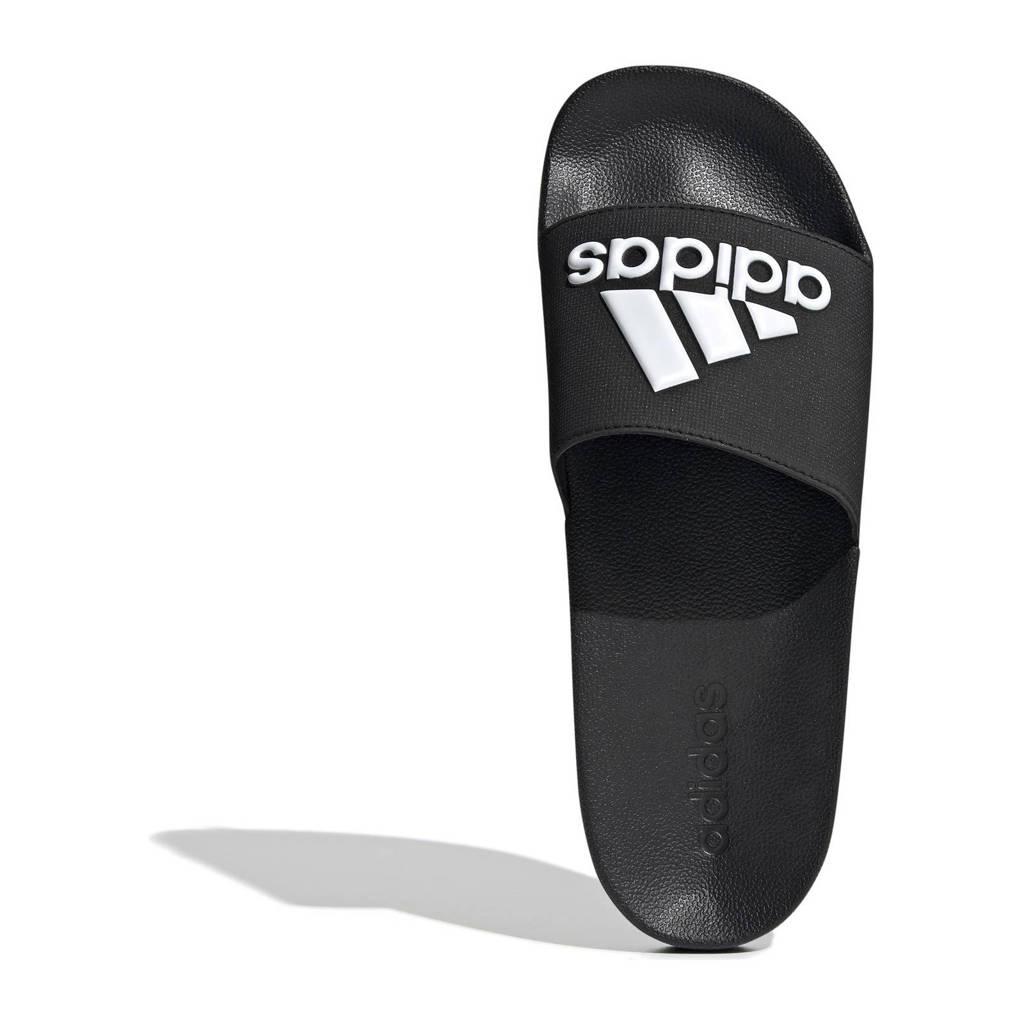 adidas Performance   Adilette badslippers zwart/wit, Zwart/wit