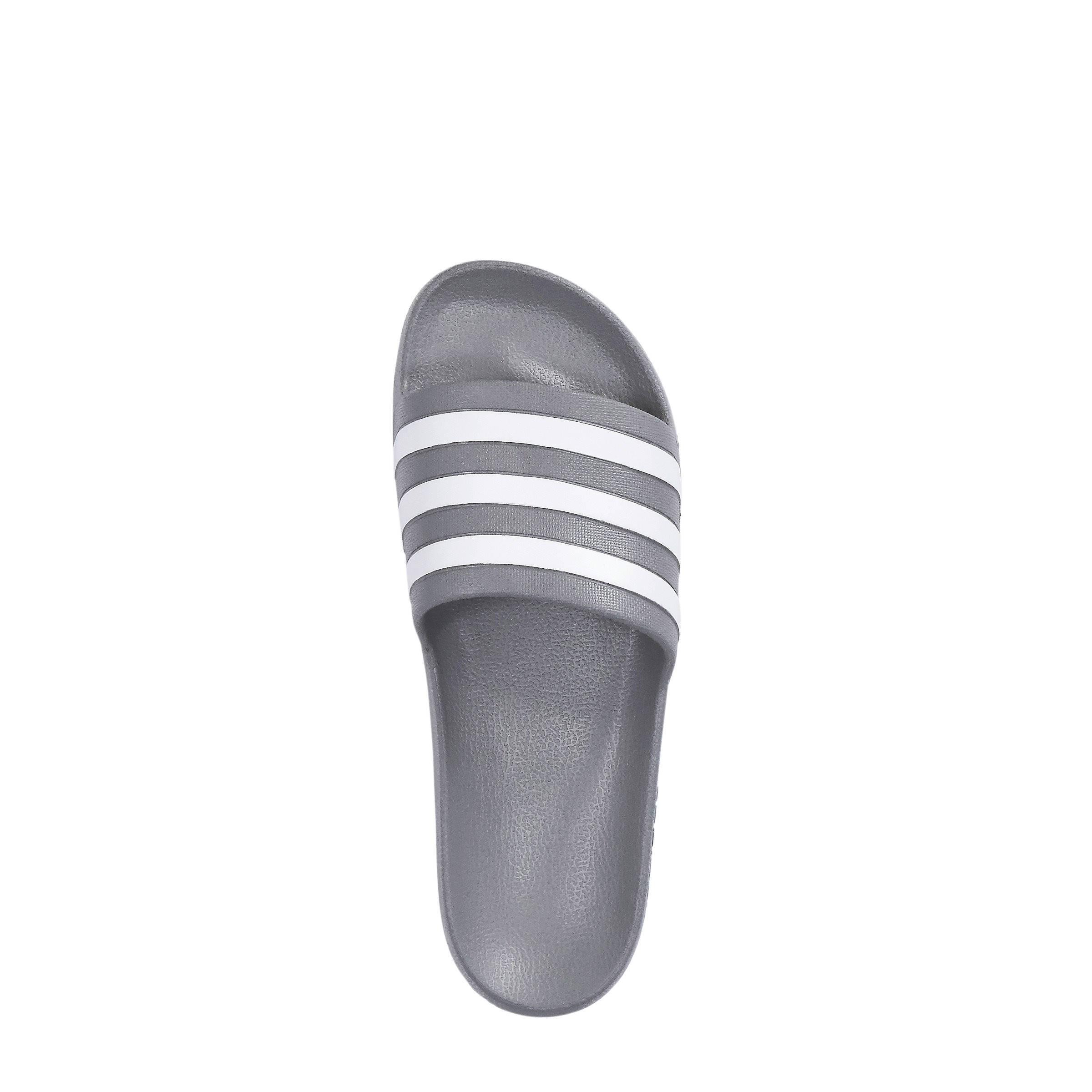 83cbfc8d6cf adidas performance Adilette Aqua badslippers grijs/wit | wehkamp