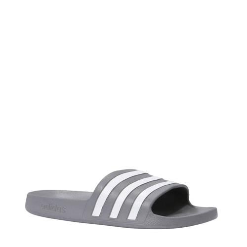 adidas performance Adilette Aqua badslippers grijs-wit