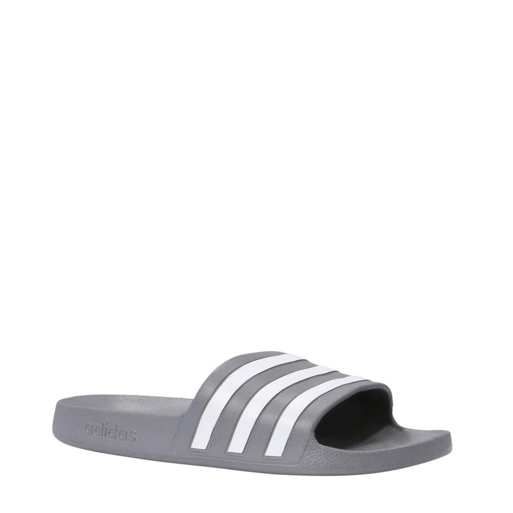 adidas Performance   Adilette Aqua badslippers grijs/wit, Grijs/wit, Unisex