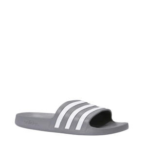 Adilette Aqua badslippers grijs/wit