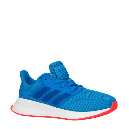 adidas performance kids Runfalcon hardloopschoenen blauw