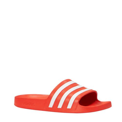 adidas performance Adilette Aqua badslippers rood