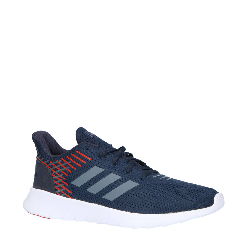 adidas performance   Asweerun hardloopschoenen donkerblauw/rood, Donkerblauw