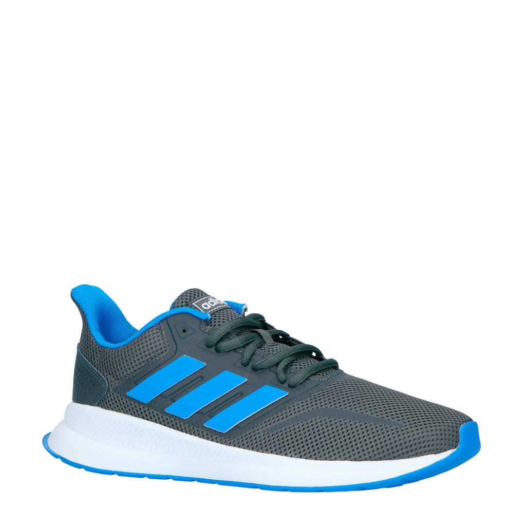 adidas performance   Runfalcon hardloopschoenen grijs/blauw, Grijs/blauw