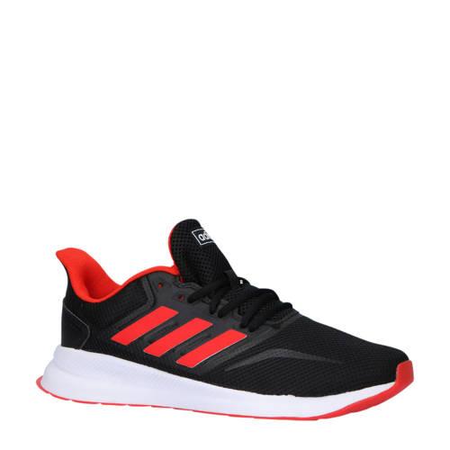 adidas performance Runfalcon hardloopschoenen zwart-rood