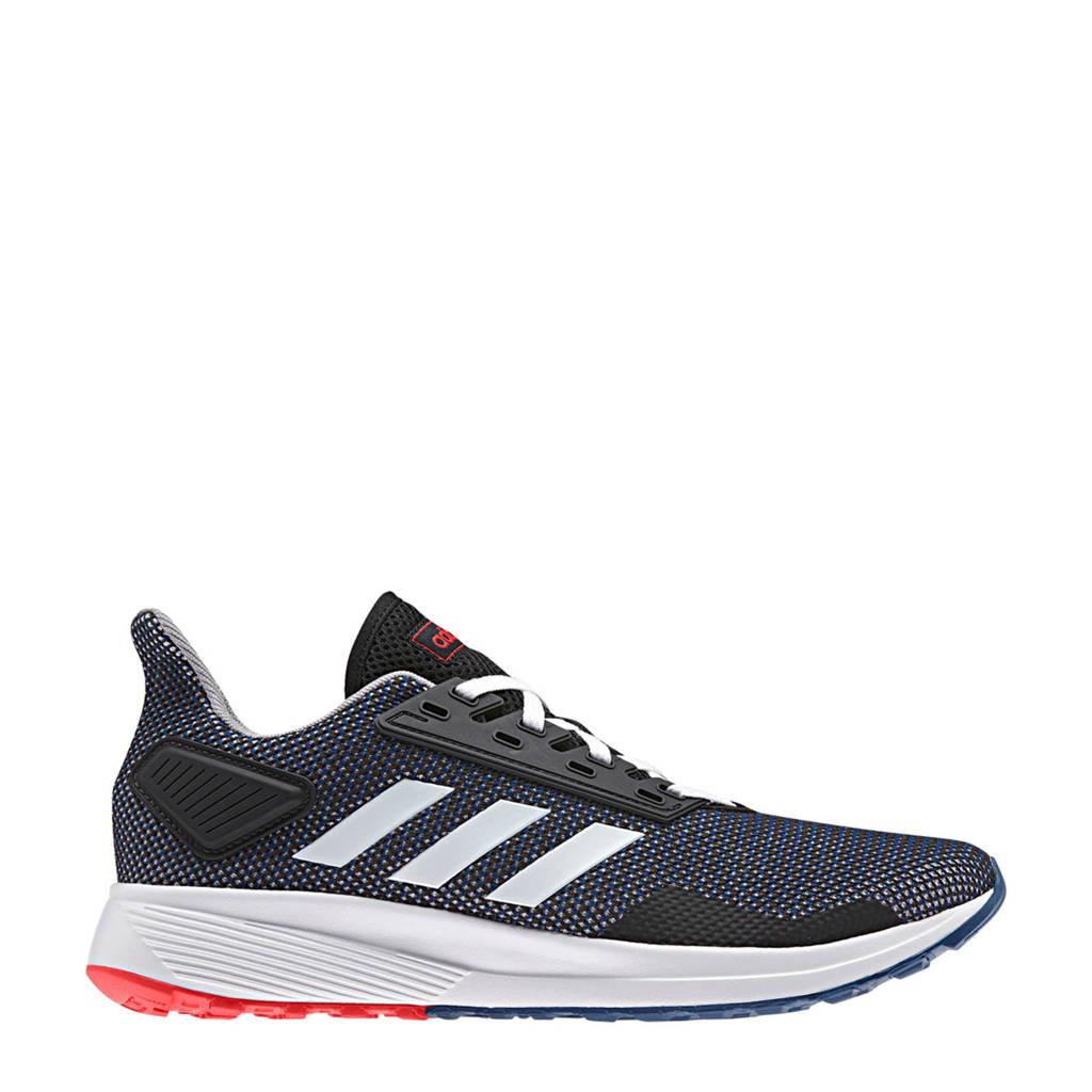 adidas performance Duramo 9 hardloopschoenen zwart/blauw/rood, Zwart/blauw/rood/wit