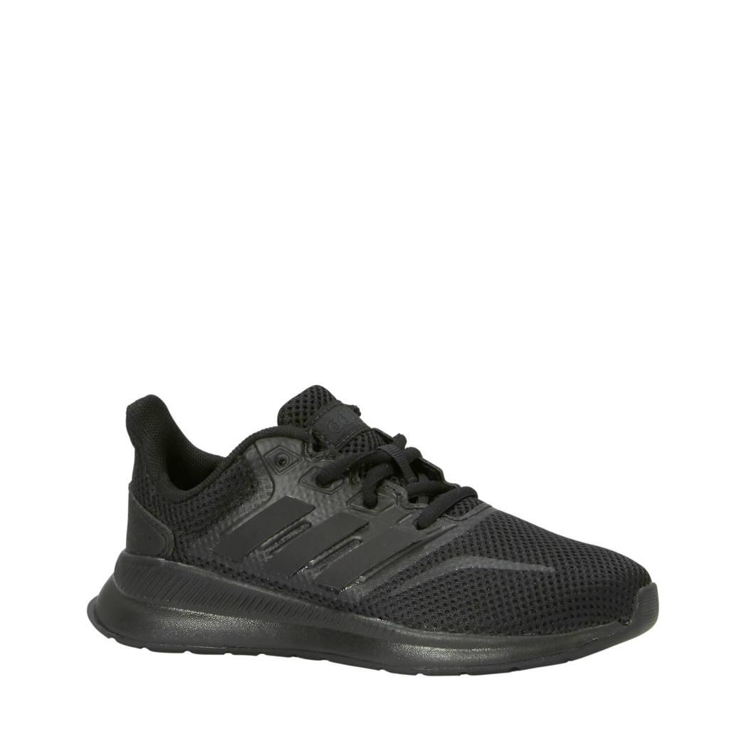 adidas Performance   Runfalcon hardloopschoenen  kids, Zwart, Jongens/meisjes