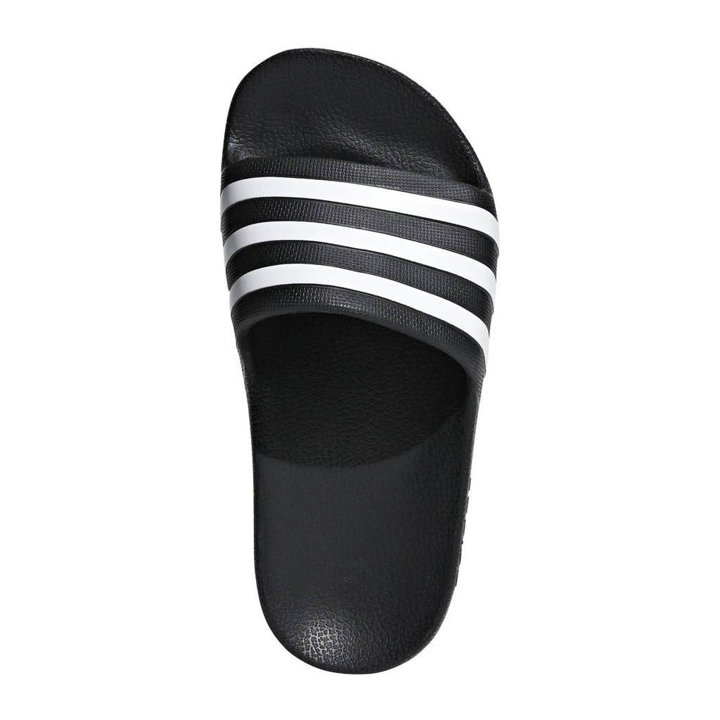adidas performance badslippers Adilette Aqua K zwart, Zwart/wit